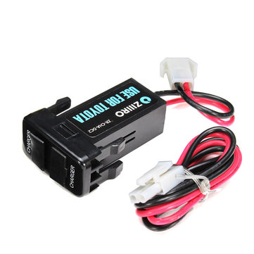 12V 3A Dual USB-poort stopcontact mobiele telefoon tablet GPS autolader voor Toyota