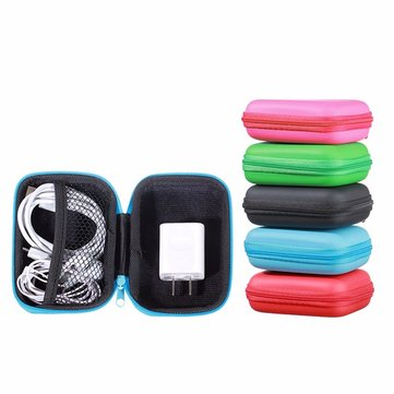 Universal Carrying Portable Zipper Storage Box Cover For Earphone Cable Hard Disk Drive