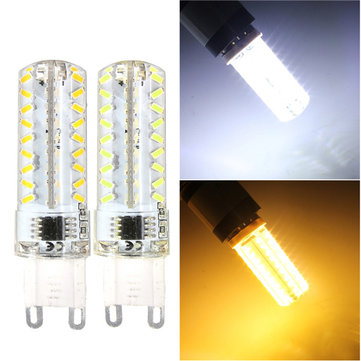 G9 5W Silica 72 3014 SMD LED Corn Lamp Dimmable Warm Pure White Light Bulb 220V