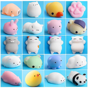 Mochi Squishy Cat Kitten Seal Spremere Cute Healing Toy Kawaii Collection Antistress Regalo Decor
