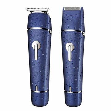 SURKER 2 en 1 Eléctrico Cabello Clipper Barba Shaver Trimmer Navaja Multifuncional Recargable herramientas