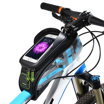 "ROCKBROS 021 MTB Road Bicycle Bike Bag Rainproof Touch Screen Cycling Top Front Tube Frame Bags 6.0"" Phone Case Bike Accessories"