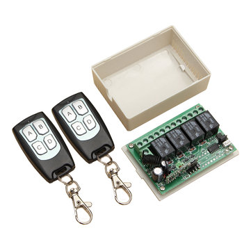 Geekcreit® 315Mhz 12V 4CH Channel Switch Control remoto Switch Module con 2 transmisores