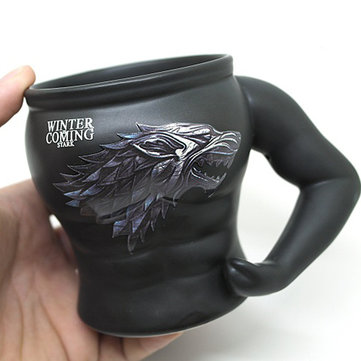 Game Of Thrones Ceramic Muscle Mug Coffee Cup Personality Muscle Man Funny Cartoon Man Modeling Cup