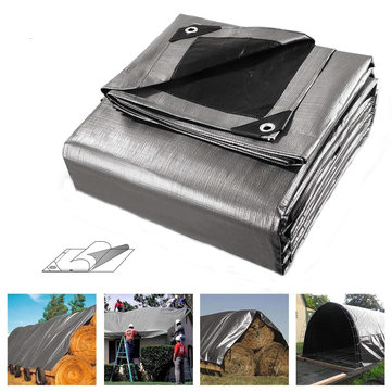5x6m Heavy Duty Poly Tarps PE Tarpaulin Camping Cover UV Water Rot Proof Outdoor Furniture Car