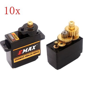 10st EMAX ES08MA II 12g Mini Metal Gear Analoge Servo voor RC Model