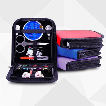 26Pcs Viagem Sewing Bag Bag Emergências Filled Costura Ferramentas Storage Bag Com Scissor Needle Thread