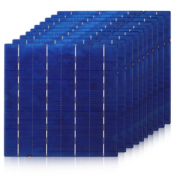 156MM Polycrystallie Solar Cell Solar Panel Cell Part With Busbar Tabbing Wire For DIY Solar Panel