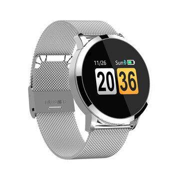 Bakeey Q8 Plus Multi UI Display Full Steel Wristband Heart Rate Monitor Female Physiological Smart Watch