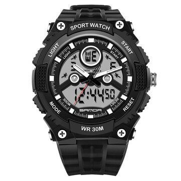 361.202 709 Dual Display 30M Waterproof Outdoor Sport Militaire Mode LED Digitale Horloge