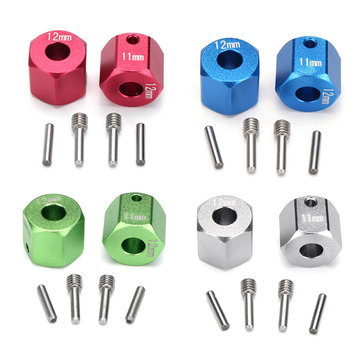 1 Set RC Car Wheel Hexagon Hub Drive Adapter Connector 11mm GPM for AXIAL SCX10 II 90046 Parts