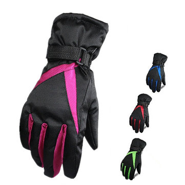 Women Thick Ski Gloves Waterproof Windproof Gloves Winter Climb Snow Sport Gloves