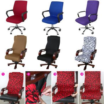 S / M / L Ofis Bilgisayar Koltuğu Kapağı Yan Fermuar Tasarım Kol Sandalye Kapak Recouvre Şezlong Streç Dönen Asansör Sandalye Kapak
