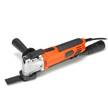 300W 6 سرعات متغير متعدد الوظائف التشذيب أدوات تتأرجح الكهربائية الرملي النجارة آلة القطع 220V