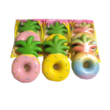 Vlampo Squishy Jumbo Pineapple Donut Licensed Slow Rising Original Packaging Fruit Collection Gift Decor Toy