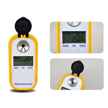 Digital Brix Refractometer Testing Sugar DegreeCutting Fluid Degree and Emulsion Concentration 0-50% Electronic Meter Portable