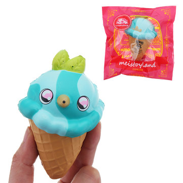 Meistoyland Squishy Bird Ice Cream Slow Rising Squeeze Toy Stress Gift Collection