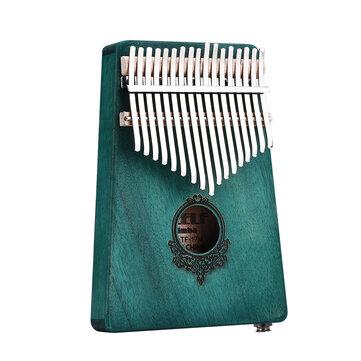 17キーマホガニーウッドカリンバアフリカの親指ピアノミニキーボードパーカッション楽器