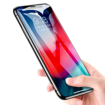Rock 9D Curved Edge Tempered Glass Screen Protector For iPhone XS Max Fingerprint Resistant Film