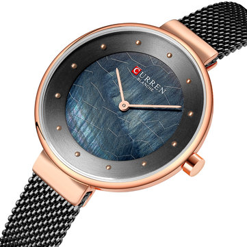 CURREN 9032 Unique Dial Design Elegant Women Wrist Watch Business Female Quartz Watch