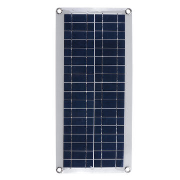DC 12V/18V Solar Panel Double 5V USB Port Charging Battery Charger For Camping Traveling