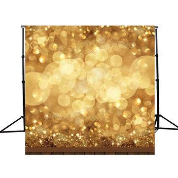 10x10ft Golden Spots Glitzer Sparkl Fotografie Hintergrund Backdrop Studio