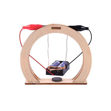 Electromagnetic Swing Set Experiment Toys DIY Handmade Invention Assembly Toys Wood Creative Educational Science Toy