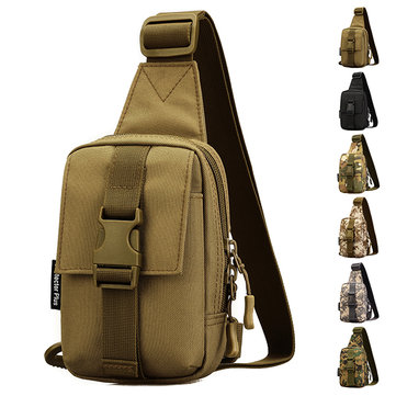 Protector Plus Men Nylon Wild Camouflage Crossbody Bag Chest Bag
