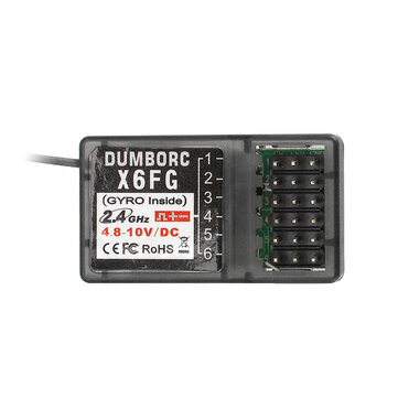 DUMBORC X6FG 2.4G 6CH Receiver with Gyro for RC X6 Transmitter Remote Controller