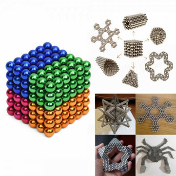 216Pcs 5mm Colorful DIY Neo Magnet Cube Magic Beads Balls Puzzle Magnetic Toys