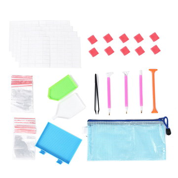 54Pcs 5D Diamond Painting Tools Kit DIY Diamond Embroidery Accessories Pen Set