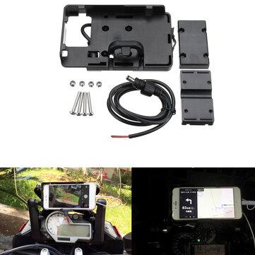 GPS carregador do suporte do telefone da navegação de USB para BMW S1000R S1000XR R1200GS R1200R
