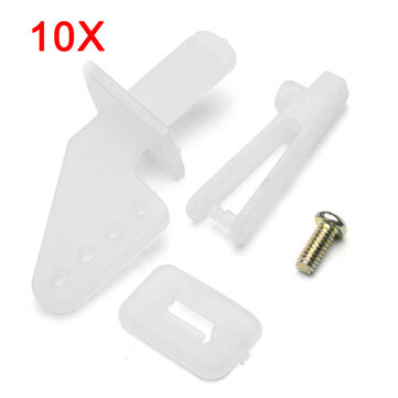 10X Rudder Servo Rob Angle Set With 1mm Chuck Screw For RC Airplane