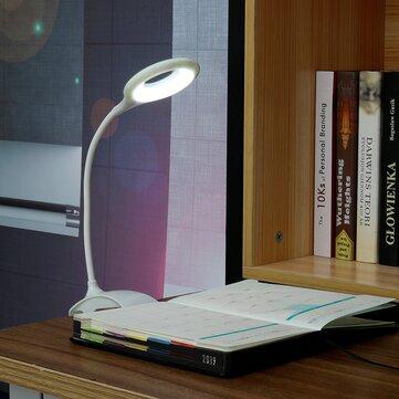 USB LED Свет для чтения Клип Зажим Кровать Стол Стол Лампа Ночник
