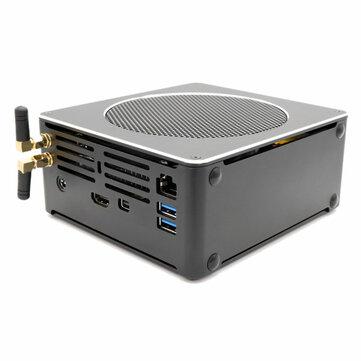 Eglobal S200 Mini PC i7-8750H 16 GB + 128 GB / 256 GB / 512 GB Quad Core Win10 DDR4 Intel UHD Grafik 630 4.1 GHz Fansız Mini Masaüstü Bilgisayar SATA mSATA MIC VGA HDMI 1000M WIFI