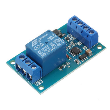 DC5V Single Bond Button Bistable Relay Module Modified Car Start and Stop Self-Locking Switch One Key