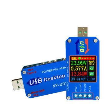 XY-UDT Testeur USB USB Convertisseur de tension / convertisseur CC Module d'alimentation CC CV 5V TO 0.6-30V 2A Alimentation régulée réglable Tension Courant Capacité Compteur