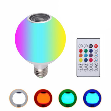 AC100-245V 12W RGBW LED Wireless bluetooth Speaker Light Bulb Music Play Lamp + Remote Control