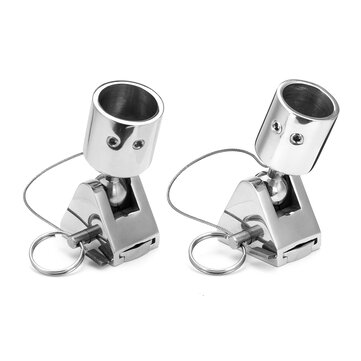 22/25mm Stainless Steel 180° Rotate Deck Hinge Connector Boat Fitting Hardware Marine