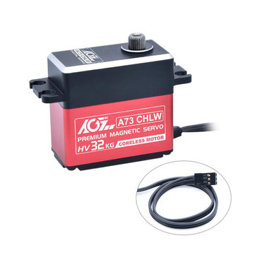 AGF A73CHLW 32kg All Metal Waterproof RC Car Servo For 1/8 1/10 Crawler Buggy Off Road Vehicle Airplane