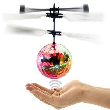 Flying Ball Infrared Induction Crystal Flashing LED Light Toys USB Rechargeable for Kids Birthday Christmas Gifts