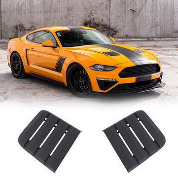 Black Hood Vent Heat Extractors Cover For 2018-2019 Ford Mustang 422083