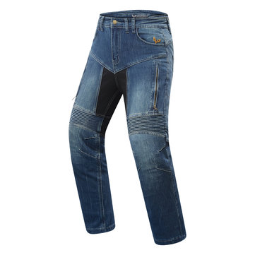 DUHAN Men Autumn Winter Pants Motorcycle Denim Riding Jeans With Protective Gear Cold-proof Keep Warm Casual Clothing
