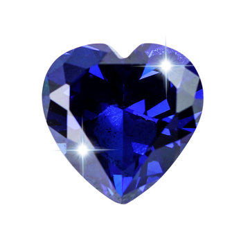 Royal Tanzanite Blue Sapphire 10x10mm 6.46ct Heart Faceted Cut Loose Gemstone Decorations