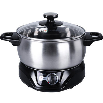LIVEN DHG-200F Multifunctional Electric Cooker Stainless Steel 2.5L Electric Cooker Pot from Xiaomi Youpin
