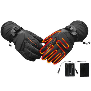 WARMSPACE Electric Heated Gloves 3 Gear Temperature Adjustment For Motorcycle Outdoor Climbing