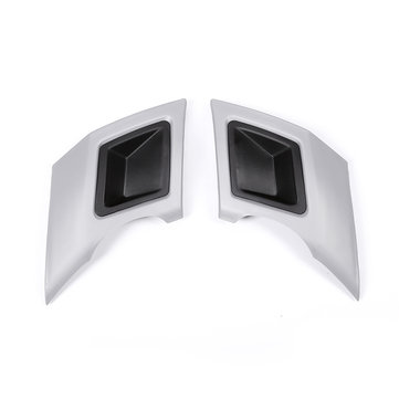2Pcs Car Rear Bumper Exhaust Pipe Cover Trim  Bumper Protector Gray Silver For Land Rover Discovery
