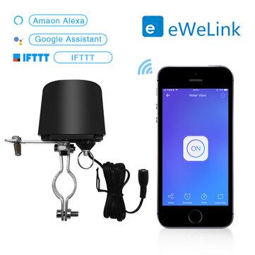 EWelinkスマートWiFiスイッチ水バルブコントローラーホームオートメーションシステムガス水制御バルブAlexa Googleと連携