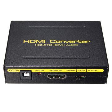 5.1CH 1080P HD - HD SPDIF RCA L / R Ses Bölücü Çıkarıcı Dönüştürücü